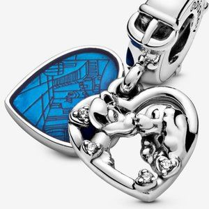❤Pandora 925 Silver Lady and the Tramp Heart Dangl